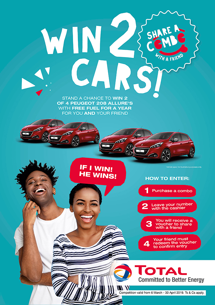 How To Win A Car >> Win 2 Cars Total South Africa